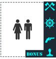 Man and woman icon flat