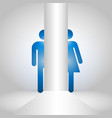 man and women symbol for toilet icon vector image
