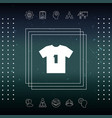men s sport t-shirt icon the silhouette menu vector image