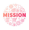 mission creative outline word vector image vector image