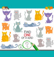 one a kind game with cartoon cats and kittens vector image vector image