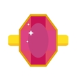 Precious ring with stone gems vector image