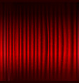 red stage curtain with black border and glitter vector image vector image