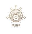 sacred geometric emblem vector image