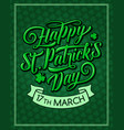 saint patrick day pattern greeting card vector image