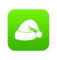 santa hat icon digital green vector image