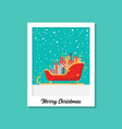 santa sleigh full present boxes image on vector image vector image