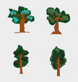 set of forest trees vector image