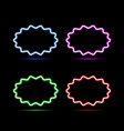 set of neon banners on a black background vector image vector image