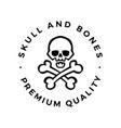 skull and bones logo icon vector image vector image