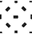 small bag pattern seamless black vector image vector image