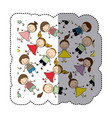 sticker colorful pattern children decorative vector image vector image