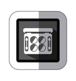sticker monochrome square with palette of vector image