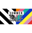 summer sale web banner in colorful retro style vector image vector image