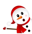 Surprised Snowman on a white background looks vector image vector image