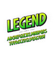 the legend 3d comical font design colorful vector image vector image