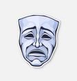 theatrical drama mask vintage opera mask vector image