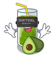 virtual reality avocado smoothies are isolated on vector image vector image