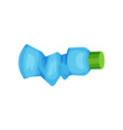 wmpty blue spray bottle plastic waste for vector image vector image