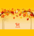 yellow autumn background vector image