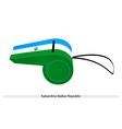 A Whistle of The Kabardino-Balkar Republic Flag vector image