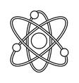 Atom molecule isolated icon design vector image
