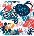 sea fish pattern vector image