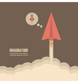 145paper rockets imagination vector image vector image