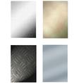 4 metal backgrounds vector image