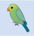 a green and blue parrot vector image vector image