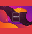 abstract colorful fluid gradient background with vector image vector image