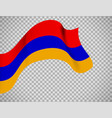 armenia flag on transparent background vector image vector image