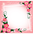 background with flowers and paper lace vector image vector image