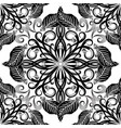 black and white elegance floral seamless pattern vector image