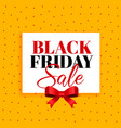black friday sale background with red ribbon vector image vector image