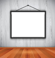 blank picture frame on wall 0710 vector image vector image