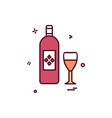 bottle glass drink icon design vector image vector image