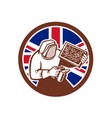 british beekeeper union jack flag icon vector image vector image