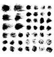 brush strokes set 7 vector image vector image