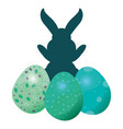 bunny silhouette easter vector image