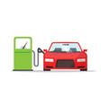 car automobile refueling on gas fuel station icon