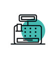 cash register payment money shopping line style vector image