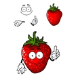 Cheerful ripe red strawberry vector image