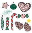 christmas hand drawn gifts style holiday season vector image