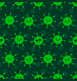 coronavirus virus cartoon style seamless pattern vector image vector image
