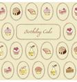 Cupcakes Pattern Birthday Card vector image