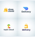 delivery and cloud storage abstract signs symbols vector image
