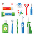 dental care equipment flat vector image vector image