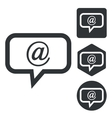 E-mail message icon set monochrome vector image vector image