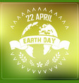 Earth day of background a shape typography
